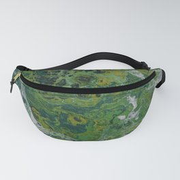 green & white negative space Fanny Pack