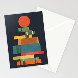 Book stack with a ball Stationery Cards