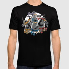 Ninja Penguins Mens Fitted Tee Black X-LARGE