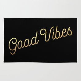 Good Vibes - Black and gold Rug