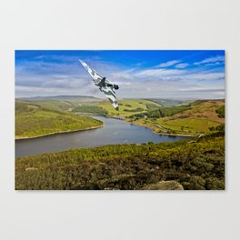 Vulcan over Ladybower Canvas Print