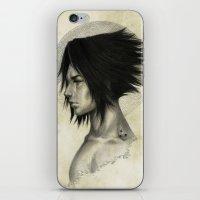 sasuke iPhone & iPod Skins featuring Weight of the World by thegreencarousel