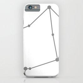 Libra (Gray & White) iPhone Case