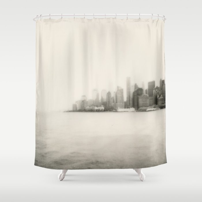 New York Skyline Shower Curtain By Inesmarinho