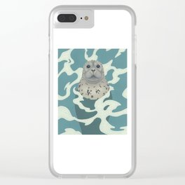 Harbor Seal Clear iPhone Case