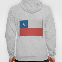 Flag of Chile.  The slit in the paper with shadows. Hoody