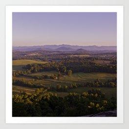Sunrise Glassy Mountain, South Carolina Art Print