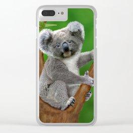 Blue-eyed Baby Koala Bear Clear iPhone Case
