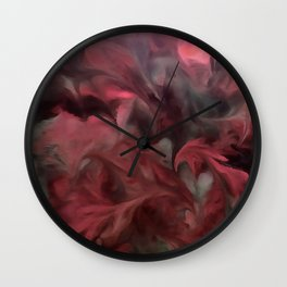 Jack Frost In Coral and Green Wall Clock