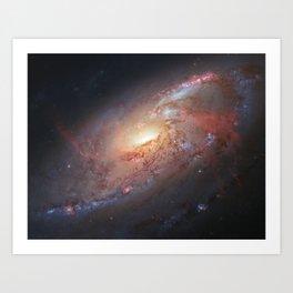 Spiral Galaxy M106 Art Print