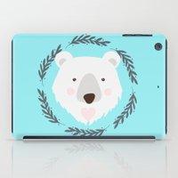 polar bear iPad Cases featuring polar bear by Taranta Babu