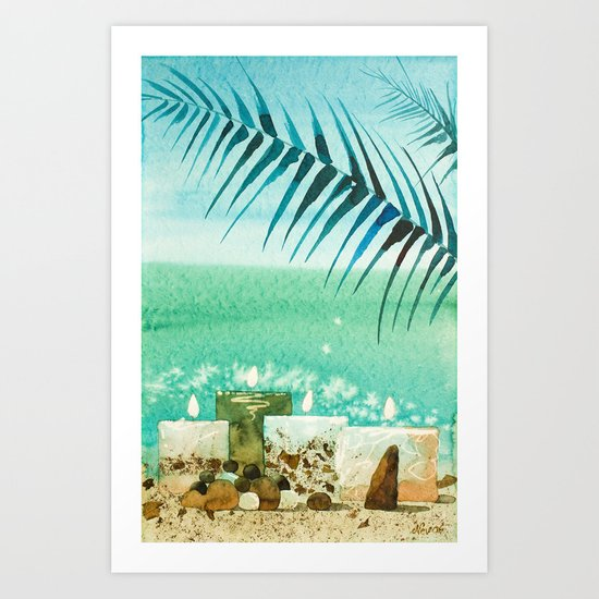 Caribbean Candles Art Print