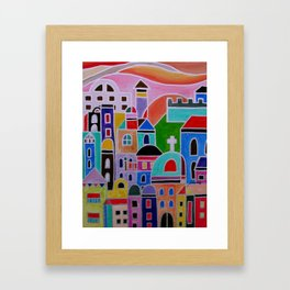 Mexican Guanajuato Colorful Town  Framed Art Print