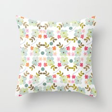 Flowers love Throw Pillow