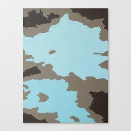 Aqua and Brown Abstract Canvas Print