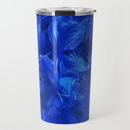 Blue Feathers Travel Mug