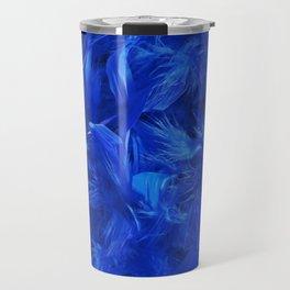 Blue Feathers Travel Mug
