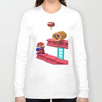 donkey kong Long Sleeve T-shirts featuring Inside Donkey Kong by Metin Seven