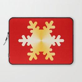 Gold Snowflake Laptop Sleeve