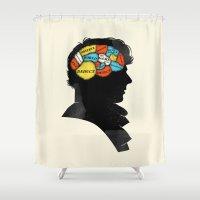 conan Shower Curtains featuring Sherlock Phrenology by Wharton