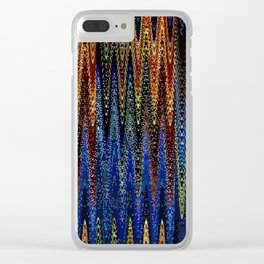 Wellen Strand Meer - Muster Clear iPhone Case