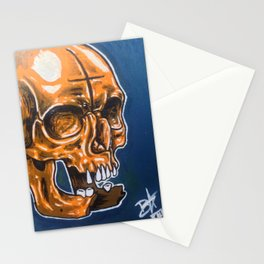 Skull Oil Painting  Stationery Cards