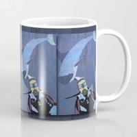 scuba Mugs featuring Scuba diver by Aquamarine Studio