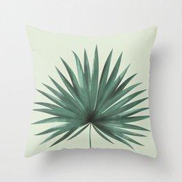 Fan Palm Leaf Throw Pillow