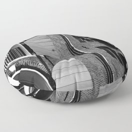 Window Shutter Textures Floor Pillow