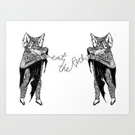 MINI PRINT lap it up Art Print