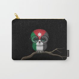 Baby Owl with Glasses and Jordanian Flag Carry-All Pouch