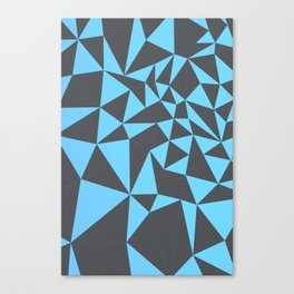 cool composition with bluish triangles. Canvas Print