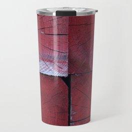4 red wooden blocks Travel Mug