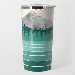 Oregon - retro throwback 70s vibes travel poster van life vacation mountains to sea Travel Mug