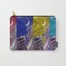 1955 Vintage Chrysler 300 Car Art Painting - Primary Colors Carry-All Pouch