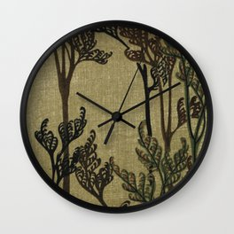 Vintage Curled Leaf Wall Clock