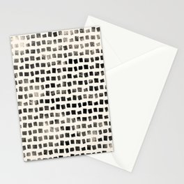Small Black Squares Stationery Cards