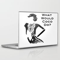 coco Laptop & iPad Skins featuring COCO by I Love Decor