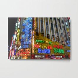 Neon light in Tokyo Metal Print