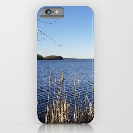 """Incredi-blue"" lake view - Lake Mendota, Madison, WI iPhone Case"