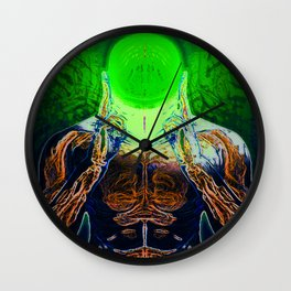 MIND #4 Concentrating Meditation Psychedelic Ethereal Character Wall Clock