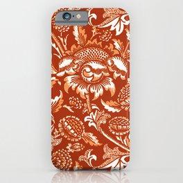 William Morris Sunflowers, Mandarin Orange iPhone Case