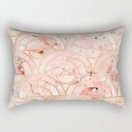 Peachy Marble (foor) Rectangular Pillow