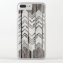 Chevrons Clear iPhone Case