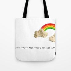 rainbows & poops Tote Bag