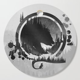 Bear and Fox In The Mountains Cutting Board