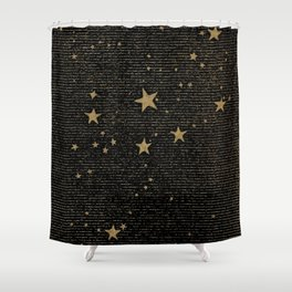 Paper Texture Stars Illustration from A high-school astronomy - Hiram Mattison - 1859 Shower Curtain