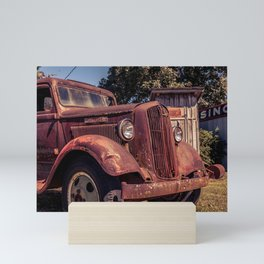 Rusting Pickup Near an Outhouse Along Route 66 in Paris Springs Missouri Mini Art Print