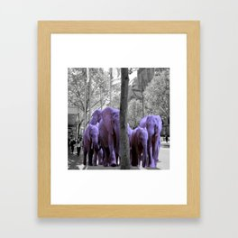 Purple guests Framed Art Print