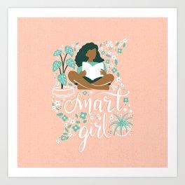 Smart Girl - v2 Art Print